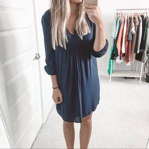 Diane Von Furstenberg Aria Navy Blue Tunic Dress